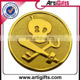 Wholesale cheap custom toy pirate gold coins