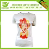 Fashional Slim Ladies T-shirts With Printing