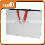 custom strong recycled white paper bag