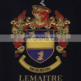 SIMPSON HAND EMBROIDERED FAMILY CREST COAT OF ARMS EMBLEM FRAME EB-161