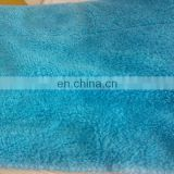 micro polyester polyamide coral fleece towels 40*40 medium size blue color