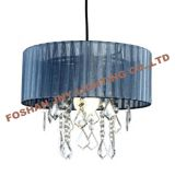 Foshan JNY Lighting deep Grey Voile Ribbon Wrapped Pendant Shade with Acrylic Droplets