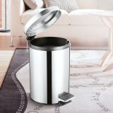 Stainless steel trash can  Pedal trash can Kitchen trash can Organic trash can