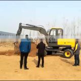 Engineering used 8 ton 8t new wheel excavator for rental