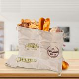 Linen Bread Bags Reusable Drawstring Bag for Loaf Homemade Bread Reusable Food Storage bag