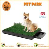 (1003) Pet product indoors pet toilet 3-pieces sythetic grass non-toxic material pet park