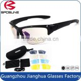 2015 New men women uv400 sport sunglasses outdoor cycling eyewear with 5 spare lens EVA box