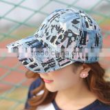 Fashion Unisex Contrast Color Cap English Words Printting Baseball Cap for Spring Summer
