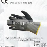 RS SAFETY Assembly grip and open back Softtextile nitrile coated glove for light industrial work gloves