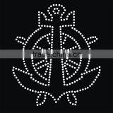 Heat press rhinestone transfers anchor rhinestone heat transfer for military uniform                                                                                                         Supplier's Choice