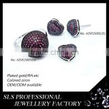Ruby diamond ring/pendant/earring jewelry set wholesale jewelry natural stone