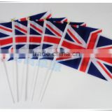 wholesale the United Kingdom of Great Britain and Northern Ireland UK hand national flag with plastic pole