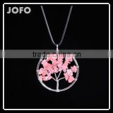 Hot Selling Product Women Girls Tree of Life Natural Gemstone Stones Crystal Lucky Necklace Gift SMJ0171