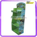 corrugated customized tiered fruit basket cardboard display stand for exhibition new product