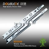3509 hot selling triple sections full extention hidden steel ball bearing telescopic channel