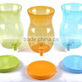 Plastic Beverage Dispenser juicer Drink Dispenser BPA FREE water jar PET juice dispenser