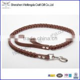 Leather handmade dog collar metal fittings designer fashion pet wholesale
