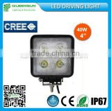 High Quality 40W LED Work Lights Flood/Spot Beam IP68 Waterproof Cree Work Lamps QS-SWL40-C