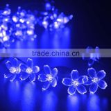 blue color cherry blossom light strings for garden and outdoor Christmas party