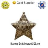 zinc alloy die casting star shape police badge toy on sale