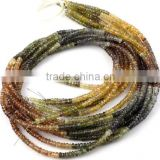 1 Strand Natural Multi Shaded Sapphire Faceted Rondelle 3.5-4mm Drilled Gemstone Beads Strand,Beautiful Necklace Beads