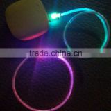 Hot sale micro usb transparent Crystal colorful emission Led light cable for mobile phone ip5/ip6