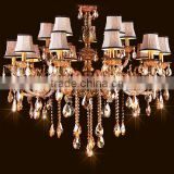 Modern cognac colour wholesale hotel crystal chandlier lamp