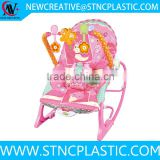 plastic music baby rocking crib with safety belt
