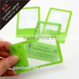 Low price plastic magnifier Advertising promotion credit card Magnifying bookmark