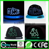 bright luster beautiful in colour fashion led fedora hat