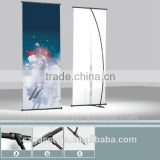 X stand/ L shape custom standing banner size
