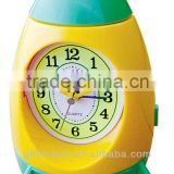 analog plastic rocket shape table alarm clock