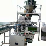 Carton box Filling & Sealing Machine with multi head weigher