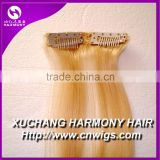 Quality single clip in hair extension/one piece clip in human hair extensions/one piece clip in curly hair extension