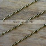 Iron Bead Chain Antique Bronze 1mm Chain Bubble Bead Army Chain Dog Tag Chain Vintage Style Jewelry Making Supplies