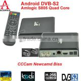 Acemax Amlogic S805 4k tv smart ultra hd satellite receiver DVB S2 support CCCAM, NEWCAMD, BISS