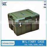 73L army green plastic equipment case, military hard case with handle                                                                         Quality Choice