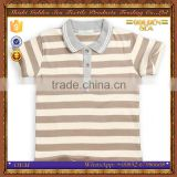 soft polyester cotton stripe summer child shirts design for little boy