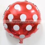 45*45cm Foil Balloon Birthday Wedding Party Decoration Red Round Polka Dot Balloon High Quality
