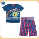 (CD3801) navy 18M-6Y nova kids wear boys two pieces suit set good quality children clothes