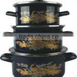 high quality camping enamel cookware sets