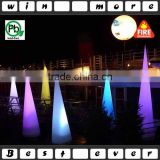 16 colors cone shaped led lights,white inflatable cone shape led lighting for advertising and party events