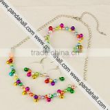 Fashion Imitation Acrylic Pearl Jewelry Setsfor Christmas(SJEW-JS00363-09)