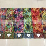 Abstract Floral 100% Viscose Painting Scarf 180*90 Wolesale China Scarfs Women Fashion Muslim Scarves Female Pashmina shawls