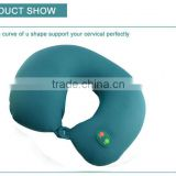 Customer design logo u-shape neck smart Massage pillow for travel/car/airplane/office/home use