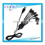 9 in 1 Universal USB Cable For iPod / iPhone / PSP / Camera / Nokia / HTC / LG / Samsung / BlackBerry