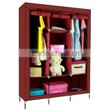home furniture assemble plastic portable wardrobe closet