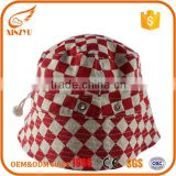 Wholesale bulk woman fishing bucket hat red cotton outdoor emoji bucket hat                                                                                                         Supplier's Choice