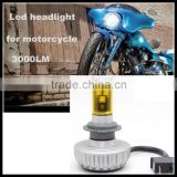 ATV Motorcycle Motor Bike 2600lm 20W LED Lights lamp H6 H7 H4 Hi/Low Bulbs xenon white for Kawasakis Yamahas Harleys Headlamp