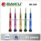 BAKU high quality product Types of Screwdrivers mini precision slotted screwdriver set BK-340